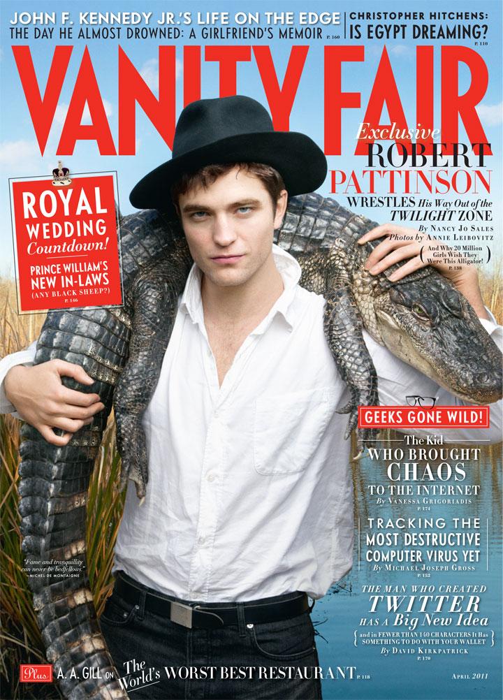 Doce história sobre como Robert Pattinson salvou o jacaré do photoshoot da Vanity Fair