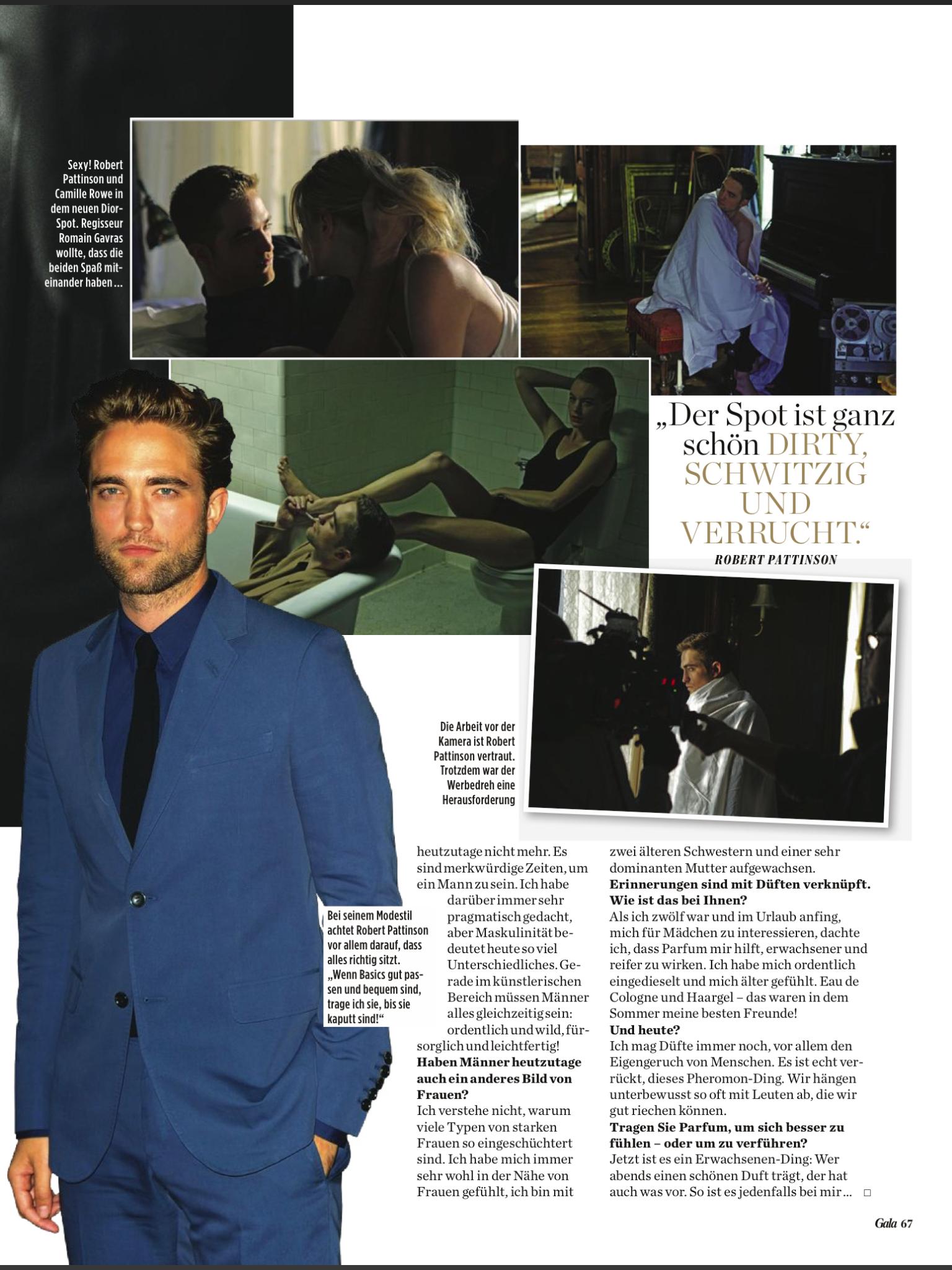 Robert Pattinson em scans e entrevista para a Gala Magazine