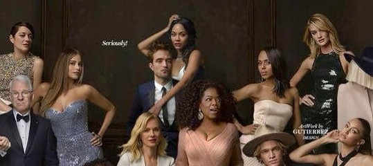Scan de Robert na capa da Vanity Fair