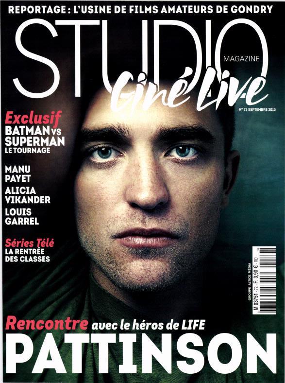 """Scans + Entrevista traduzida de Robert para a """"Studio Ciné Live"""" da França"""