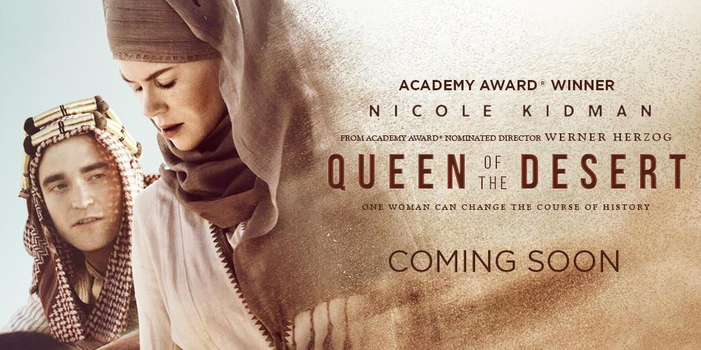 Robert Pattinson e Nicole Kidman aparecem em novo pôster de Queen Of The Desert