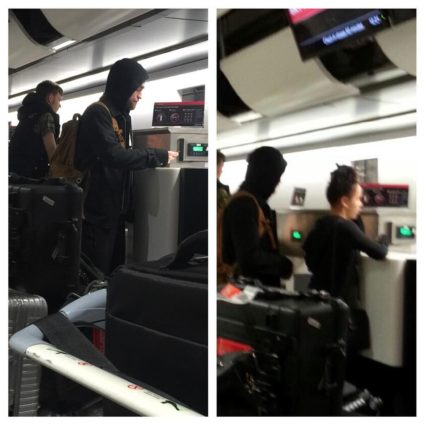 Novas fotos de Robert Pattinson & FKA Twigs no Heathrow Airport