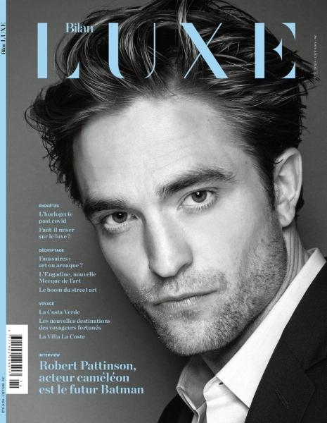 Entrevista + Scans de Rob na edição de Julho da Bilan Luxe