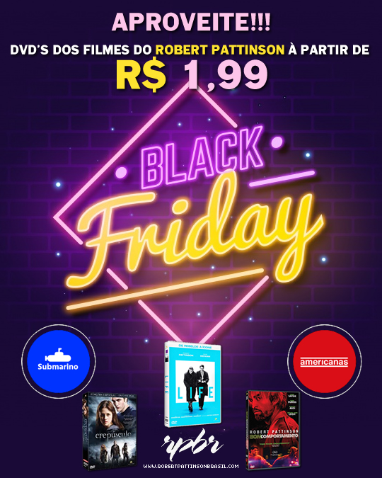 Promoção de Black Friday: Dvd's de filmes do Robert Pattinson à partir de R$ 1,99