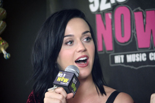 Katy Perry In Studio at 92.3 NOW
