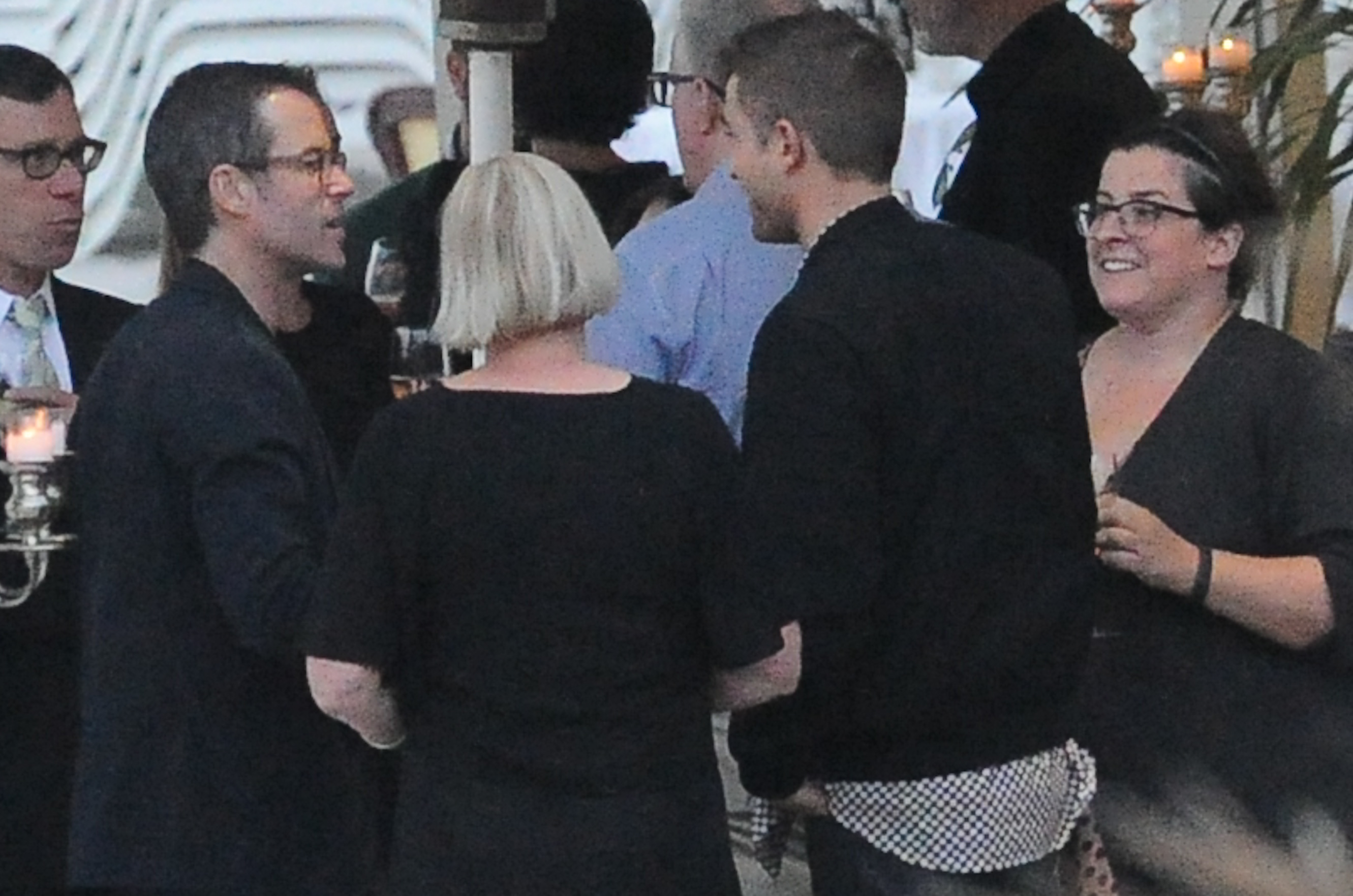 Robert Pattinson, Guy Pearce and Kate Mestitz are seen going for dinner in Cannes